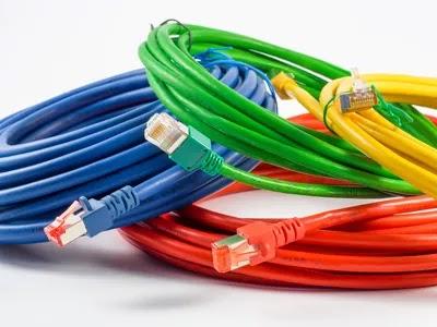 أزرق أخضر أحمر أصفر UTP كابلات