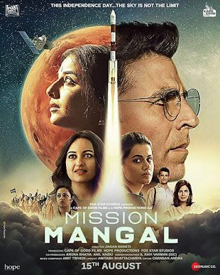 Poster Mission Mangal 2019 Hindi HD 300Mb
