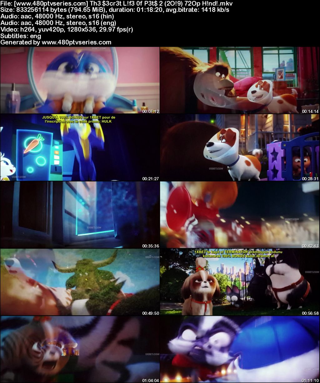 Watch Online Free The Secret Life of Pets 2 (2019) Full Hindi Dual Audio Movie Download 480p 720p HD