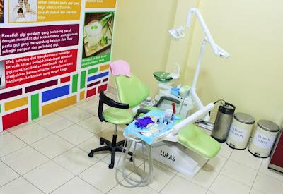suasana klinik gigi di Global Estetik Pasar Rebo