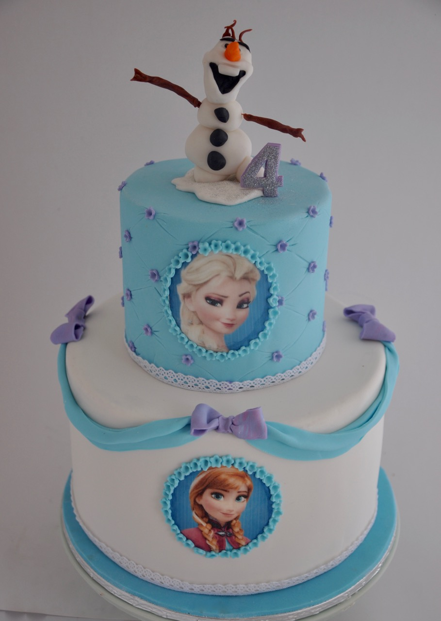 Rozannes Cakes 4th Birthday Frozen cake