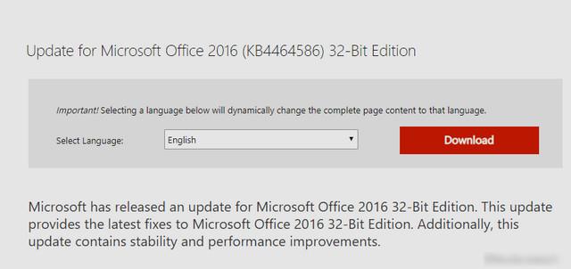 تحميل تحديثات يناير 2020 لبرنامج أوفيس 2016 من مايكروسوفت