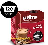 Logo Lavazza Caffè Ginseng 120 Capsule sconto 45% a soli € 27,35! Affrettati