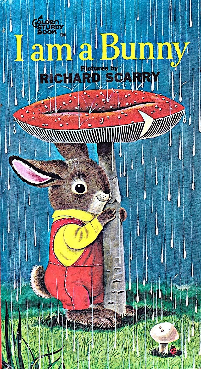 a Richard Scarry illustration for I Am A Bunny