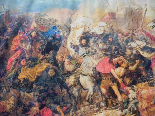 Jan Matejko, dzieło sztuki, haft krzyżykowy, w Zielonej Górze