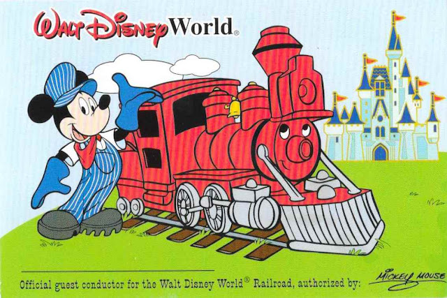 Walt Disney World Railroad Guest Conductor Card Front Side