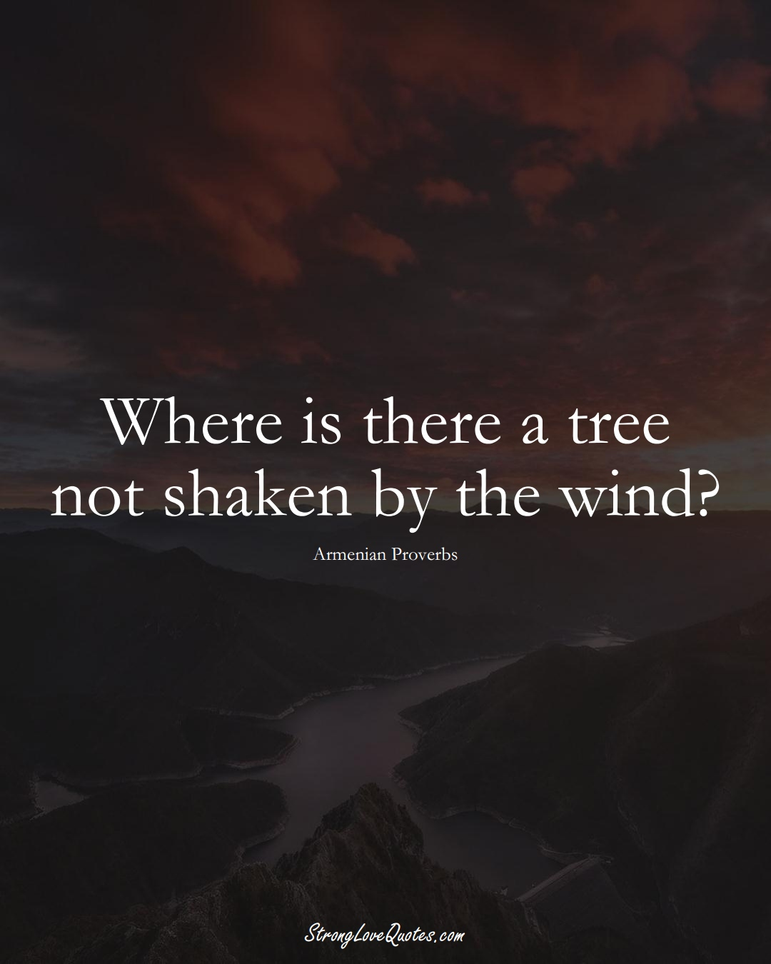 Where is there a tree not shaken by the wind? (Armenian Sayings);  #AsianSayings