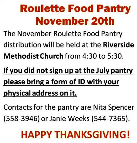 11-20 Roulette Food Pantry