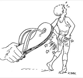 sandal spanking