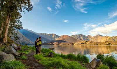 Lake Segara Anak altitude 2000 m of Mount Rinjani