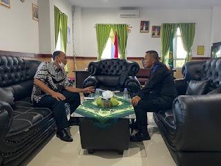 Perkuat Sinergitas, Danyon C Pelopor Silaturahmi Dengan Ketua PN Watampone