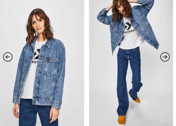 Calvin Klein Jeans - Geaca de femei din material de blugi