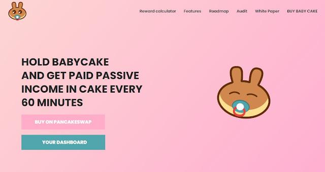 Screenshot Website BabyCake (BABYCAKE)