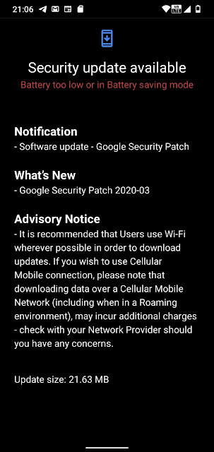 Nokia 2.2 receiving March 2020 Android Security Patch