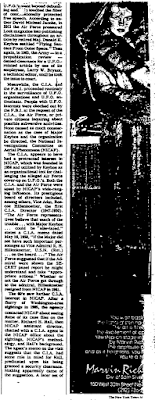 U.F.O. Files The Untold Story By Partick Huyghe (Pt 5A) - New York Times (10-14-1979)