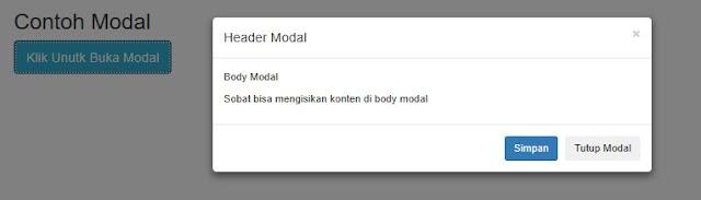 Mengenal dan Menggunakan Modal Bootstrap