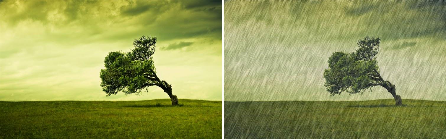 raining effect