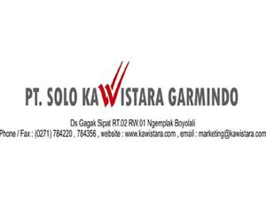 Lowongan Kerja Boyolali Bulan Februari 2020 - PT Solo Kawistara Garmindo
