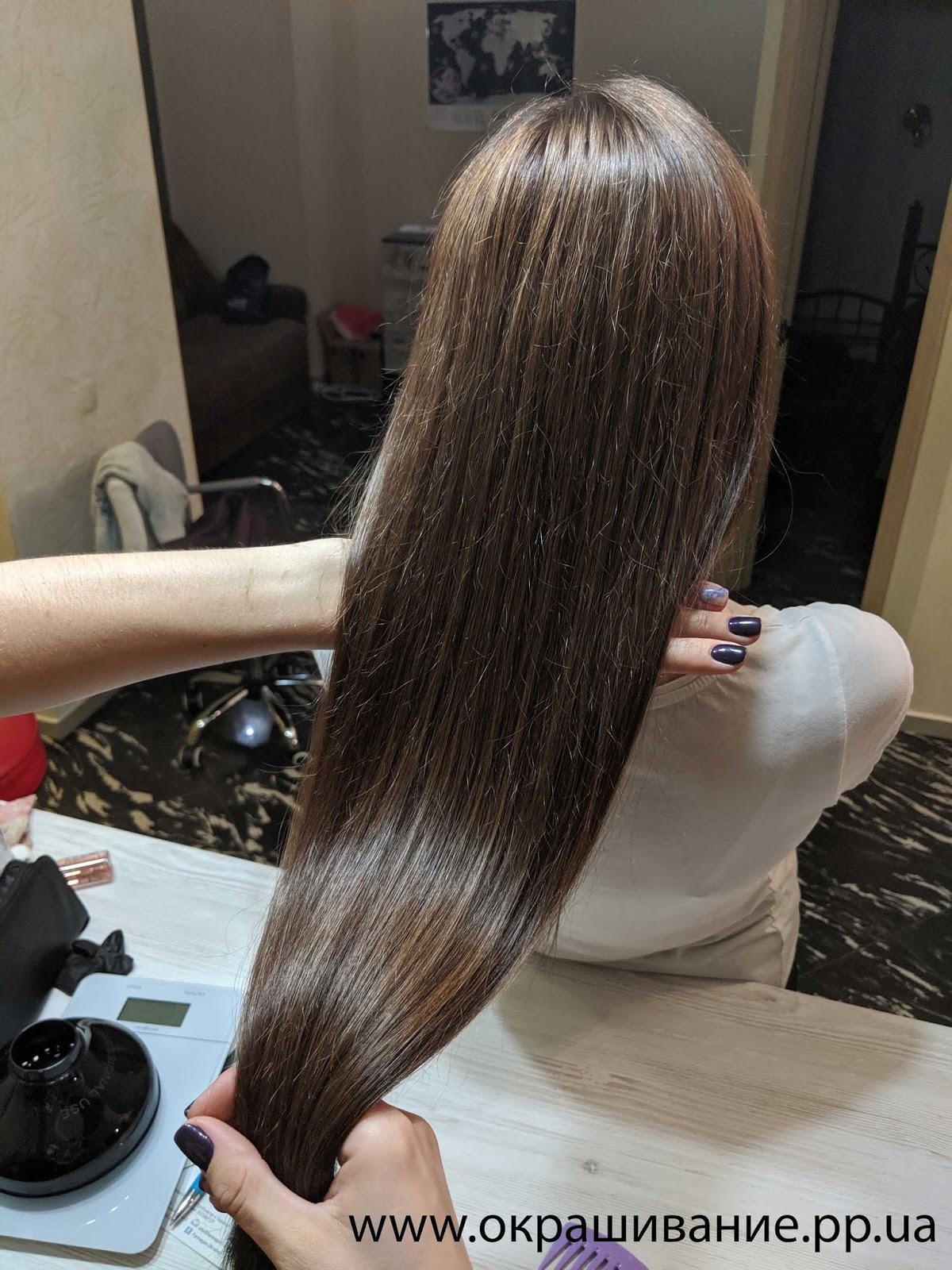 Красивое окрашивание длинных волос