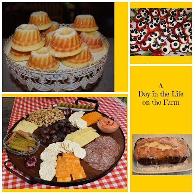 dessert and appetizer collage