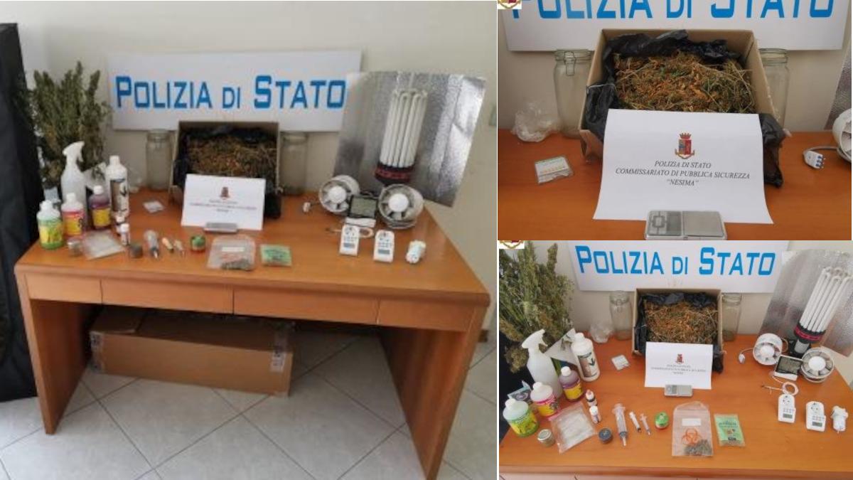 Polizia via Salvatore Grasso