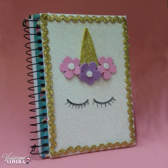 caderno decorado com eva by valdirene oliveira
