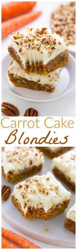 Cool Carrot Cake Blondies