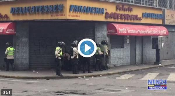 Presos vestidos de PNB disparan contra el pueblo en la Candelaria