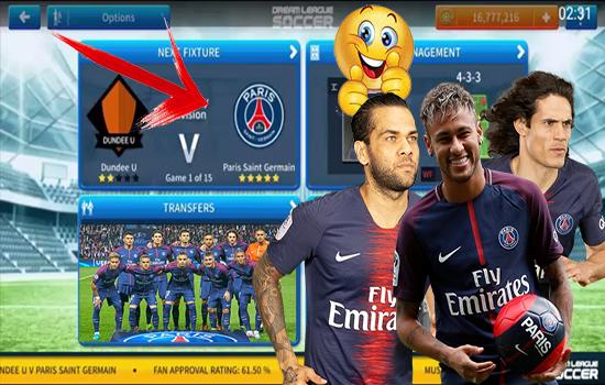 باريس سان جيرمان PSG كاملا الى لعبة دريم ليغ سوكر