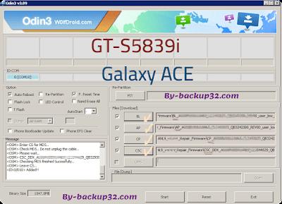 سوفت وير هاتف Galaxy Ace موديل GT-S5839i روم الاصلاح 4 ملفات تحميل مباشر