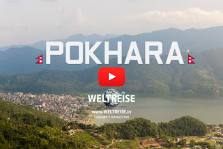 Fewa Lake in Pokhara, Nepal. Arkadij travels the world. WELTREISE.tv