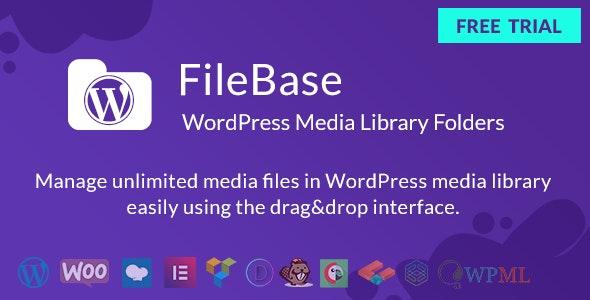 FileBase v2.0.3 - Ultimate Media Library Folders for WordPress