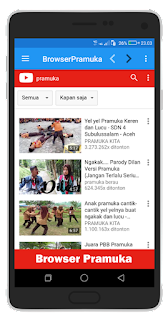 Streaming youtube browser pramuka