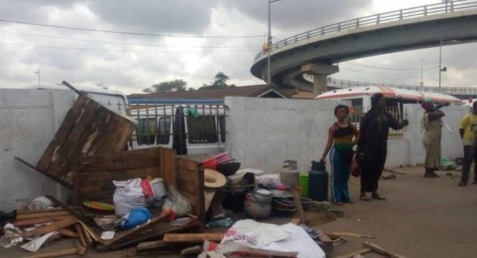 AMA Demolishes Illegal Structures At Nkrumah Interchange