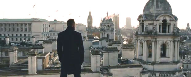 Bond in Skyfall, watching over Britain