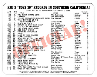 KHJ Boss 30 No. 62 - September 7, 1966