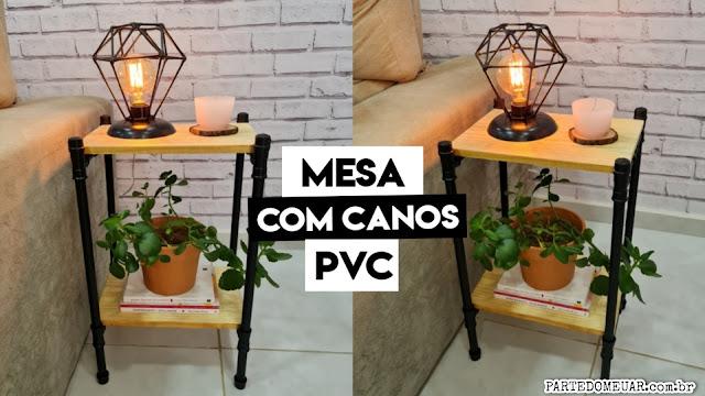 mesa com cano pvc