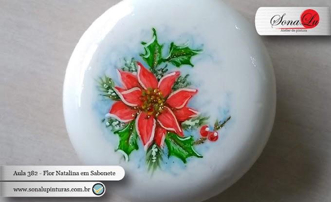 Aula 382 - Flor de Natal em Sabonete