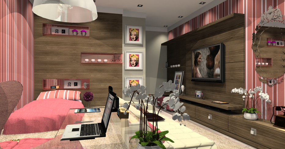 Dise o de dormitorios juveniles para chicas decoraci n for Diseno de apartamentos para estudiantes
