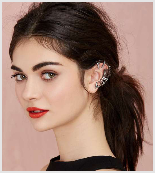 Let not your hair cover up the ear cuffs