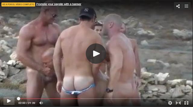 sexo de machos en la playa