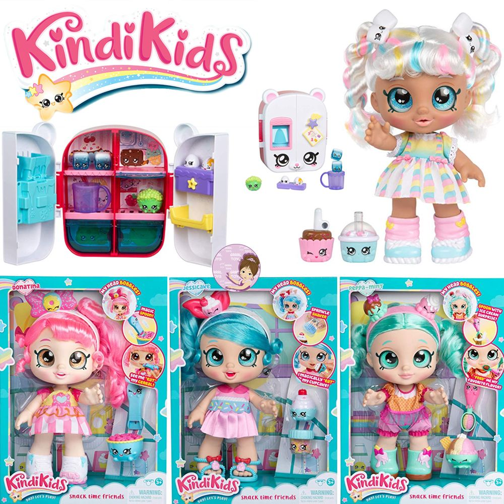 Pretty Kindi Kids Shopkins Collection Of Snack Time