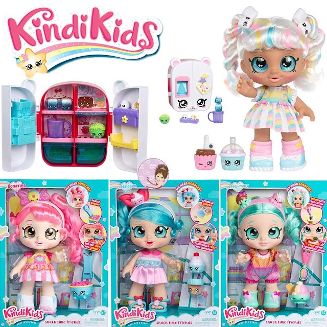 Pretty Kindi Kids Shopkins: Collection of Snack Time Friends Baby Dolls