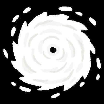 上から見た台風のイラスト(背景なし)