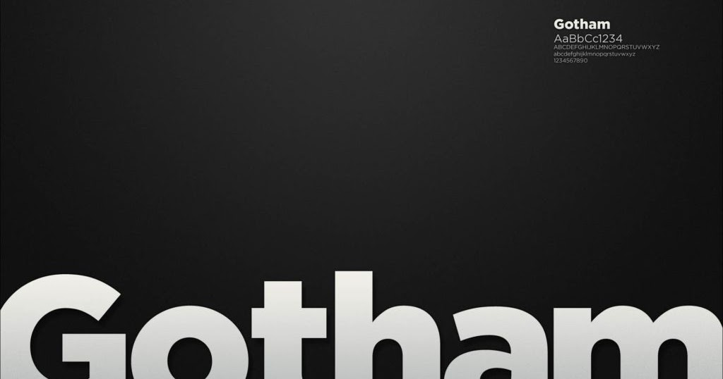 Download Gotham Font Family Free Download - Graphic Temple