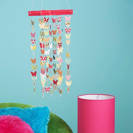 DIY Christmas gift idea cute - Breezy Butterfly Art Mobile
