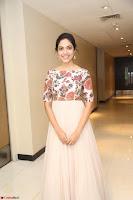 Ritu Varma smiling face Cream Anarkali dress at launch of OPPO New Selfie Camera F3 ~  Exclusive 053.JPG