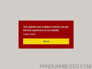 Cara Memasang Kotak Notifikasi Cookie di Blog