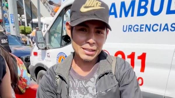 """""""Con cinco pesos soy feliz"""": REITERA Miguel sobreviviente del colapso en Metro Olivos"""