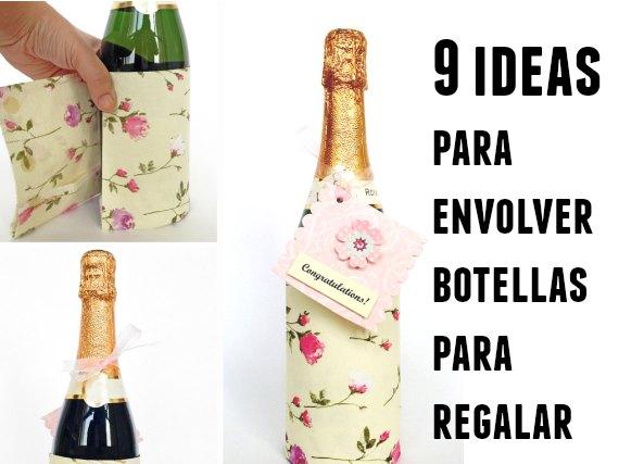 como envolver botellas para regalo, botellas como envolverlas para regalo